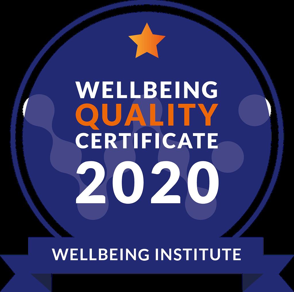 Certyfikat Wellbeing Quality 2020